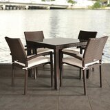 Hillis International Home Outdoor 5 Piece Dining Set with Cushions