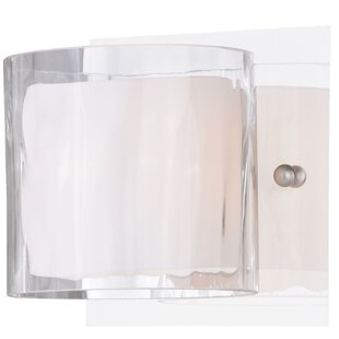 Reviews Dunellon 1-Light Bath Sconce By Latitude Run