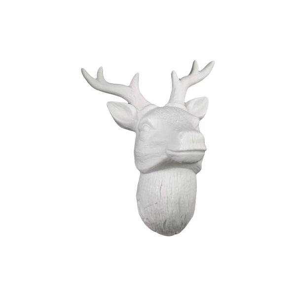 Deer Head Wall Decor urban trends porcelain deer head wall decor gloss white & reviews