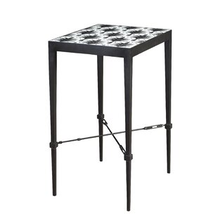 Brayden Studio Coinde Palm Micro Mosaic End Table