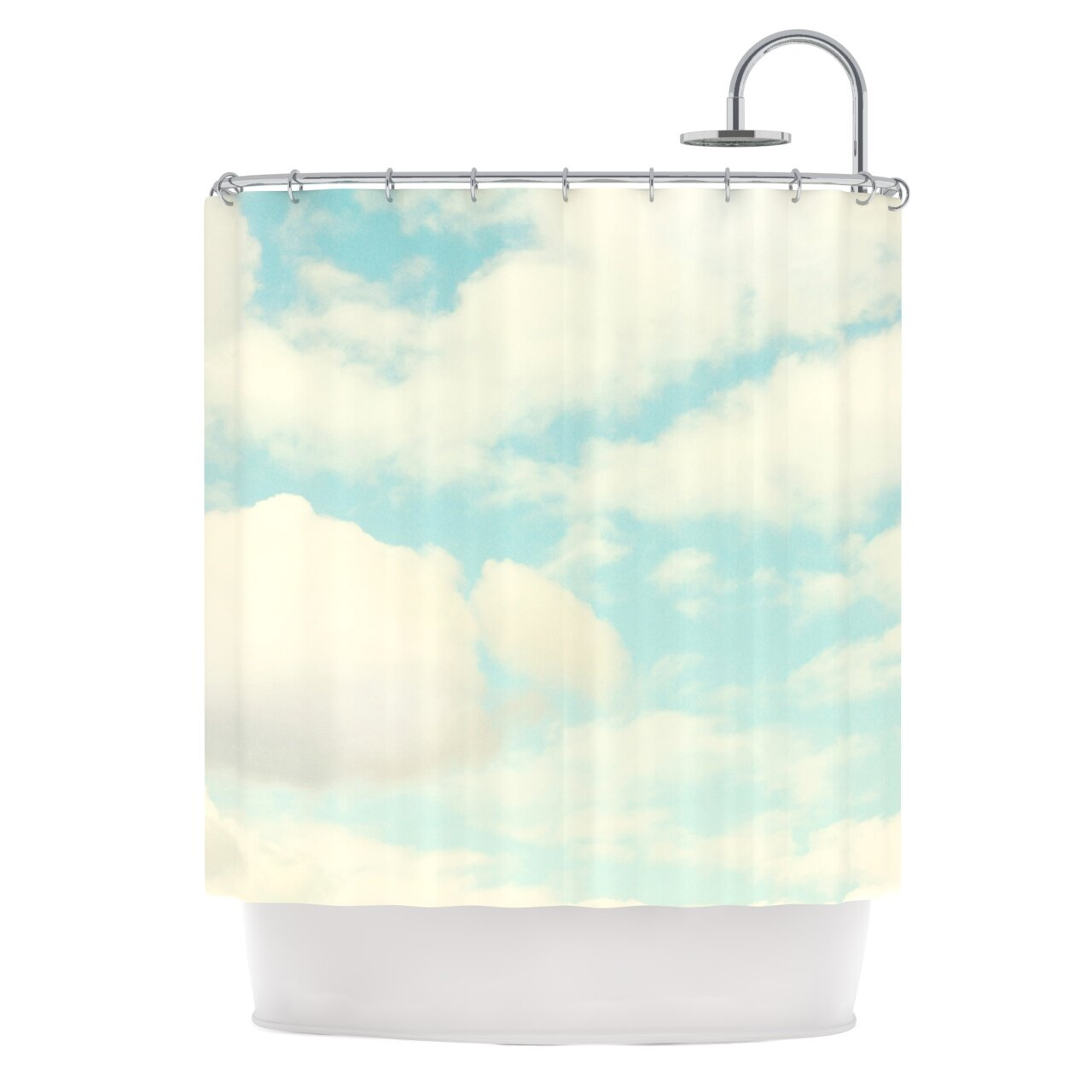 East Urban Home Clouds Shower Curtain