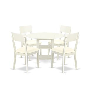 Tyshawn 5 Piece Drop Leaf Breakfast Nook ..