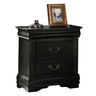 Bash Wooden 2 Drawer Nightstand