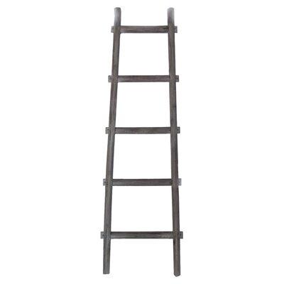 Birch Lane™ Heritage Lianes 5 Step 5 ft Decorative Blanket Ladder Color: Gray, Size: 59 H x 18 W x 2 D