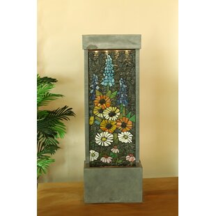 Jeco Inc. Resin Wall Cascade Fountain with Light