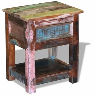 Annahda End Table with Storage by World Menagerie