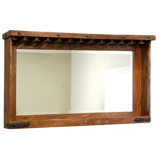 Rashad Mirror Bar with Wine Storage