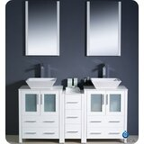 Torino 60 Double Bathroom Vanity Set with Mirror by Fresca