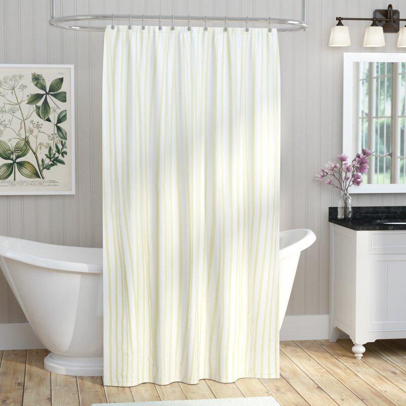 August Grove Cotton Shower Curtain Reviews