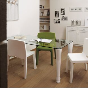 Trainer Glass Dining Table by Latitude Run