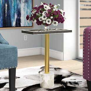 Bellevue Bone Inlay End Table by Ivy Bronx