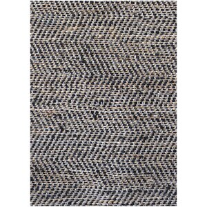 Black Flatweave Area Rug