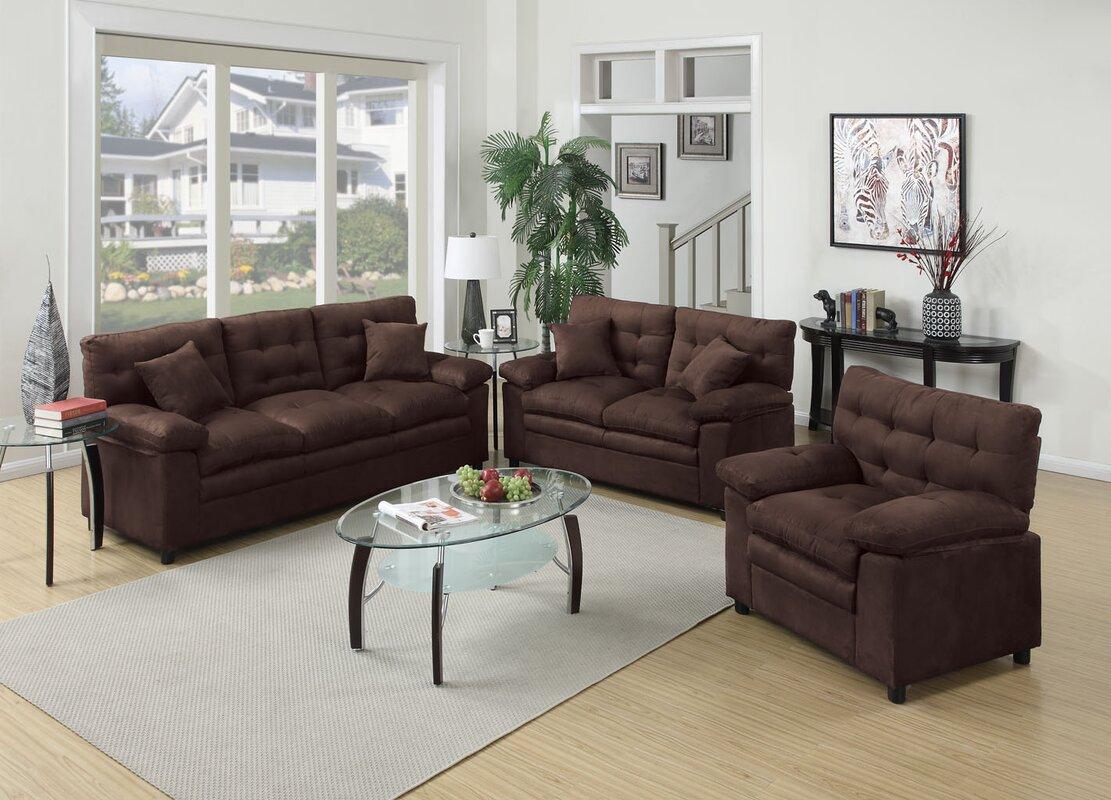 Living Room Set Red Barrel Studio Kingsport 3 Piece Living Room Set & Reviews