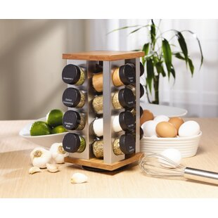 Revolving 16 Jar Spice Jar & Rack Set
