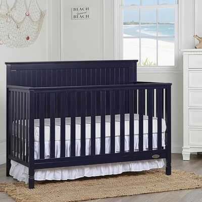 Alexa 5-in-1 Convertible Crib Dream On Me Color: Navy