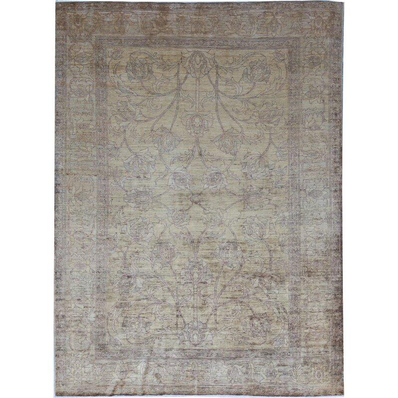 Bokara Rug Co Inc Oriental Hand Knotted Wool Gold Beige Area Rug Wayfair