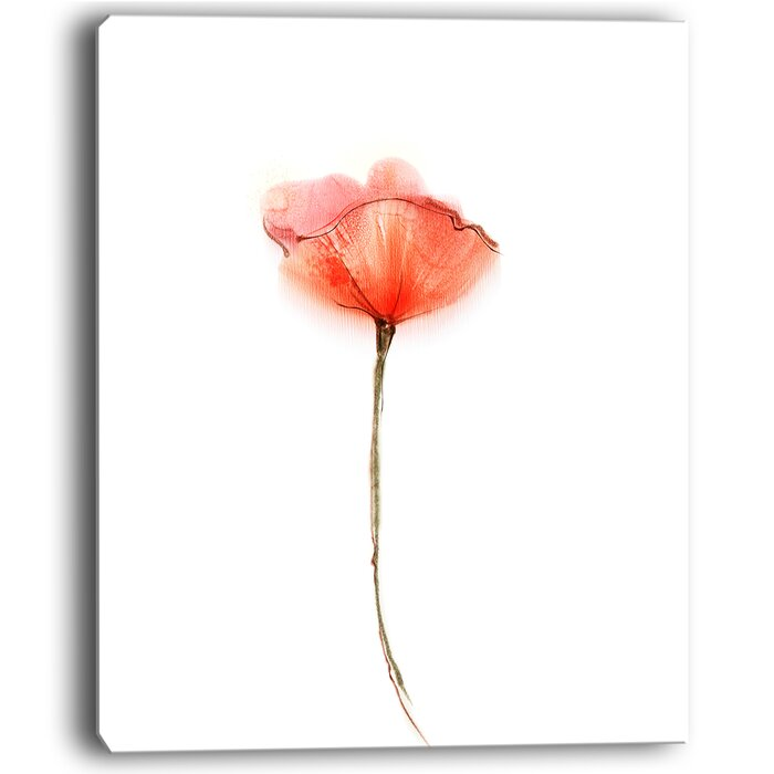 Designart watercolor large red poppy flower painting print on watercolor large red poppy flower painting print on wrapped canvas mightylinksfo
