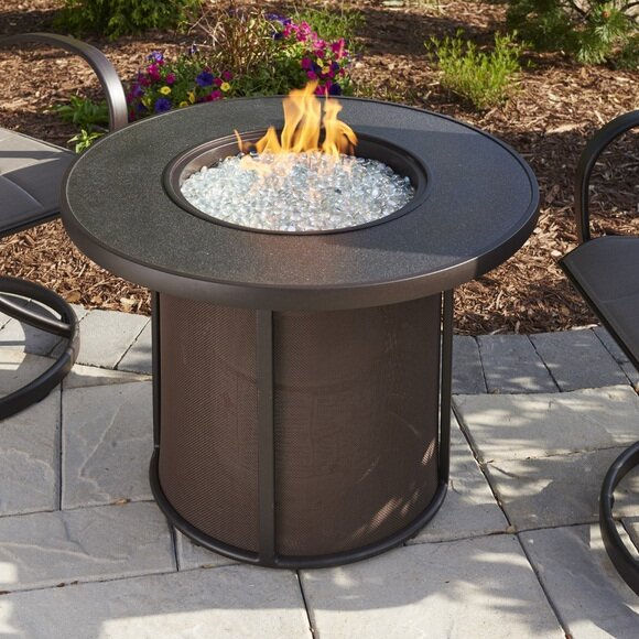 The Outdoor GreatRoom Company Stonefire Gas Fire Pit Table Reviews - Outdoor furniture with gas fire pit table