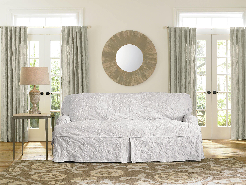 Sure Fit Matelasse Damask Box Cushion Sofa Slipcover Reviews Wayfair