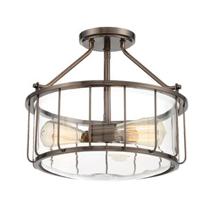 Adriana 2-Light Semi Flush Mount by Williston Forge