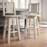 Abella Swivel Solid Wood 30 Bar Stool by Loon Peak®
