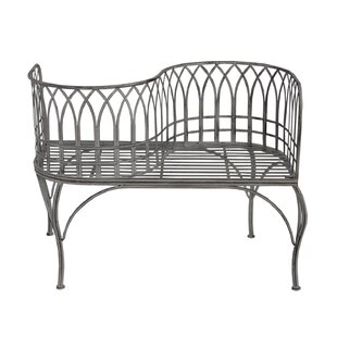Gines Curved Steel Tete-a-Tete Bench
