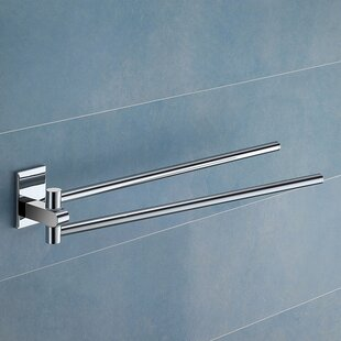 Maine Jointed Double Wall Mounted Towel Bar by Gedy by Nameeks