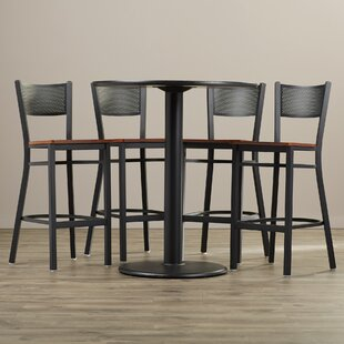 Broadway 5 Piece Pub Table Set Latitude Run