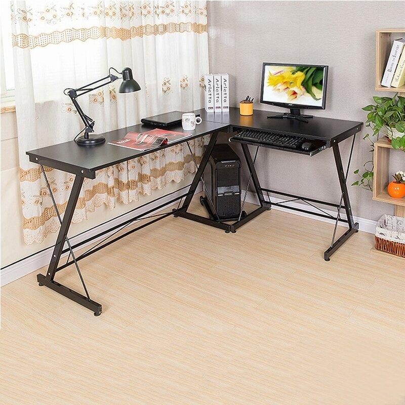 Inbox Zero Home L Shape Desk Wayfair