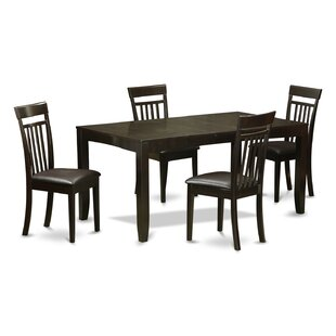 Lynfield 5 Piece Extendable Dining Set East West Furniture