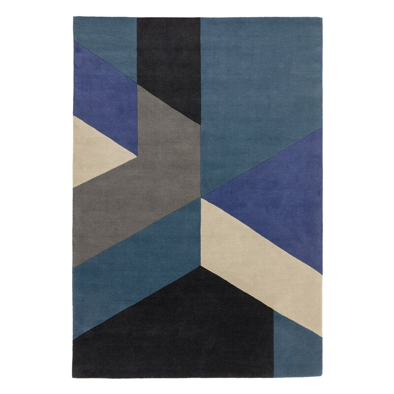 Leonidas Tufted Wool Blue Rug