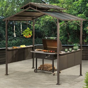 Kent 8 Ft. W x 5 Ft. D Steel Grill Gazebo by Sunjoy
