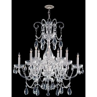 House of Hampton Boykin Crystal 12-Light Crystal Chandelier