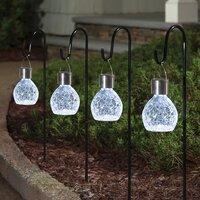 Deals on 4-Pack Sterno Home Color-Changing LED Solar Hanging Lights