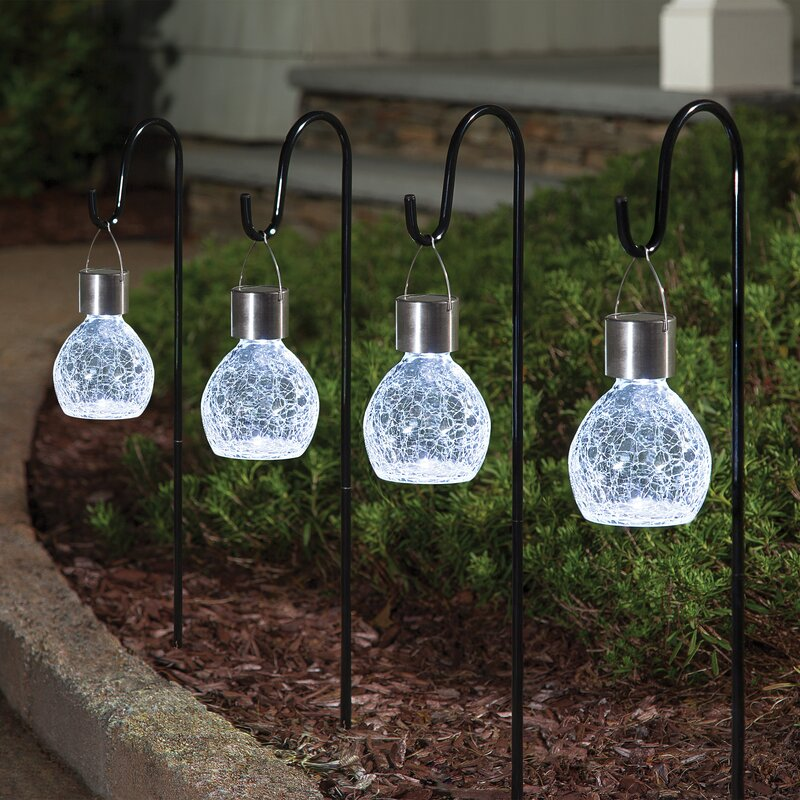 Set of 2 Dusk to Dawn Timer Waterproof Small Outdoor Solar Lanterns Hanging or Table Top Patio Lighting 6 Inch Black Lantern with Solar Powered LED Candle