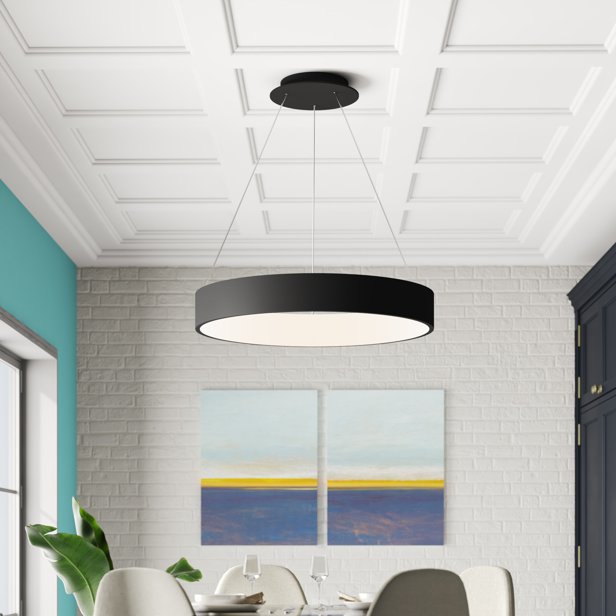 Drum Kitchen Island Pendant Lighting You Ll Love In 2020 Wayfair