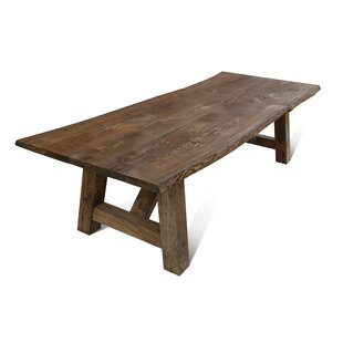 Maggie Solid Wood Dining Table Loon Peak