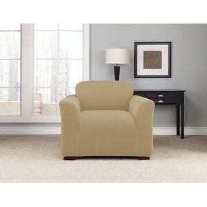 Stretch Modern Chevron Box Cushion Armchair Slipcover by Sure Fit