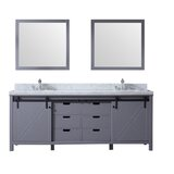 Marsyas 84 Double Bathroom Vanity Set with Mirror by Lexora