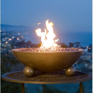 Versailles Concrete Propane/Natural Gas Fire Pit By American Fyre Designs (AFD)