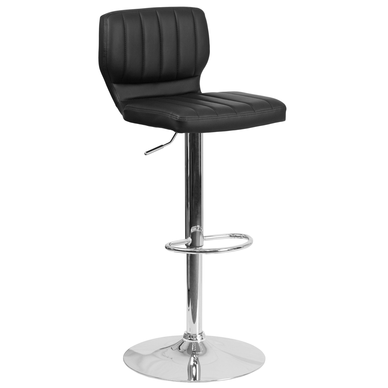 black and white bar stools. Wade Logan Aristocles Adjustable Height Swivel Bar Stool \u0026 Reviews   Wayfair Black And White Stools -