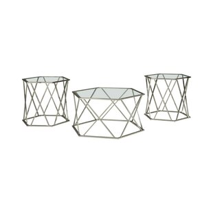 Etienne 3 Piece Coffee Table Set by Brayden Studio