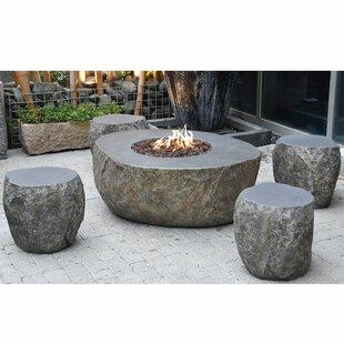 Vesuv Concrete Gas Fire Pit Table By Elementi