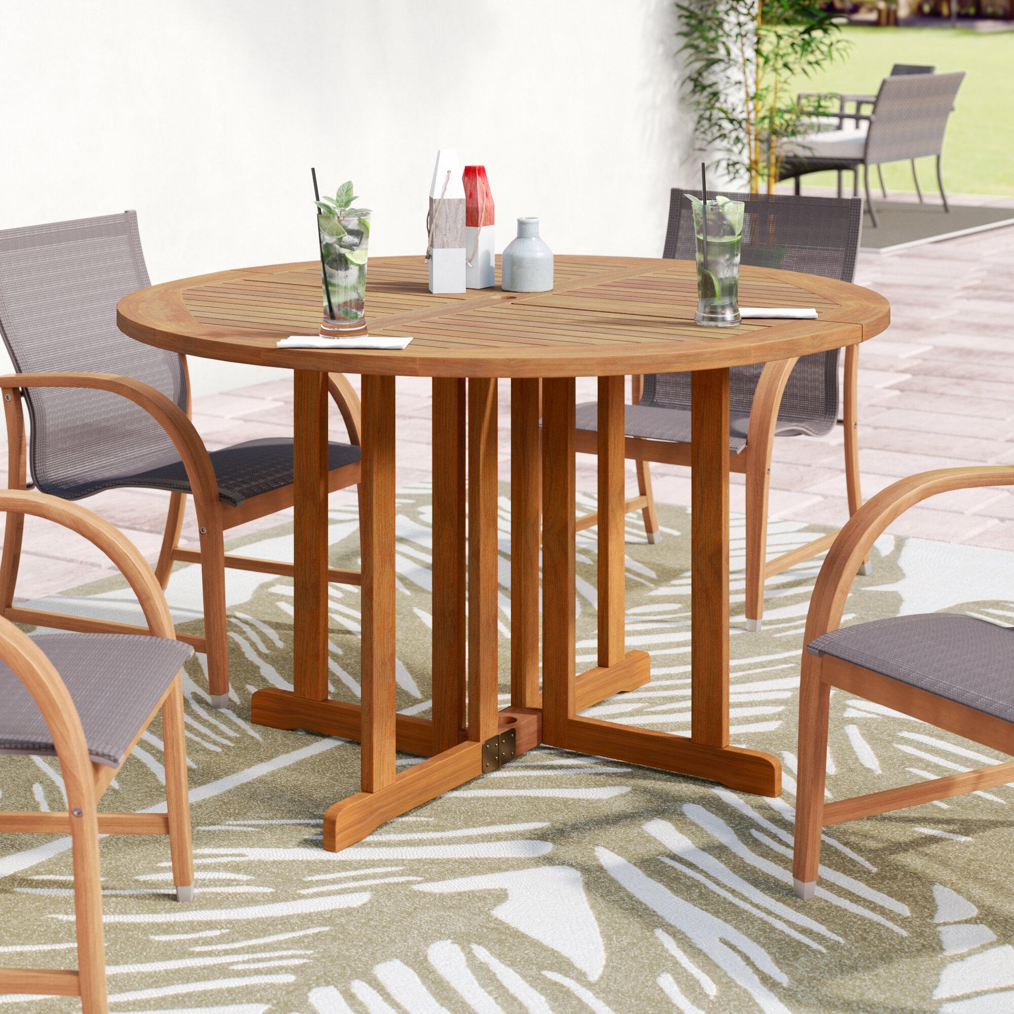 - Bayou Breeze Fabius Folding Solid Wood Dining Table & Reviews Wayfair