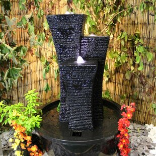 Oriental Towers Resin Water Feature With Light By Sol 72 Outdoor