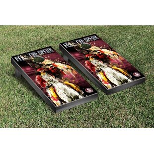 Victory Tailgate NCAA Florida State FSU Seminoles Fear The Spear Version 2 Cornhole Game Set