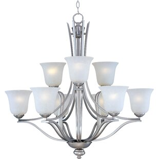 Charlton Home Mansfield 9-Light Shaded Chandelier