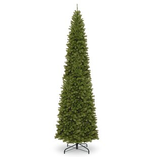 pencil slim green spruce artificial christmas tree