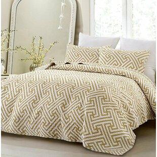 Mercer41 Helmer Geometric Modern 3 Piece Reversible Comforter Set