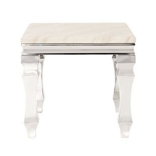 Camryn Stainless Steel End Table by Rosdorf Park Top Reviews